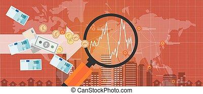 échange, argent, global, étranger, croissance, mondiale, international, investissement
