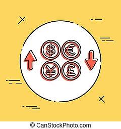 échange devise étrangère