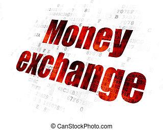 échange, devise argent, fond, numérique, concept: