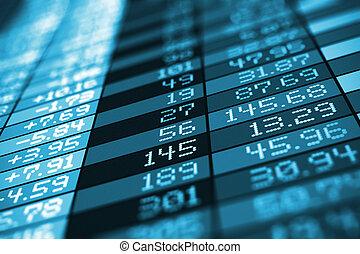 échange, données, bourse, commercer