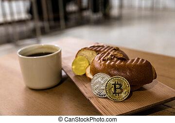 échange, encrypted, bitcoin, virtuel, avenir, argent, spéculer