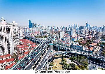 échange, urbain, viaducts