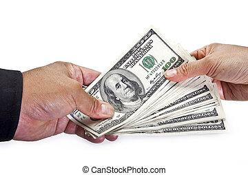 échanger, argent