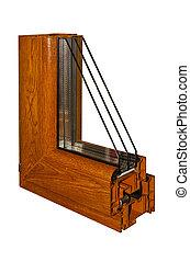 échantillon, pvc, fenêtre