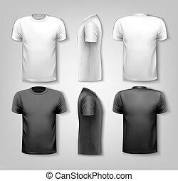 échantillon, texte, vector., space., t-shirts