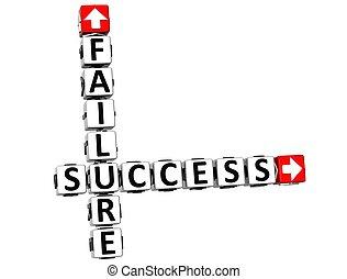 échec, 3d, reussite, mots croisés