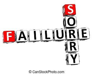 échec, désolé, 3d, mots croisés
