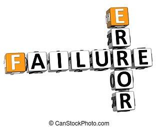 échec, mots croisés, 3d, erreur