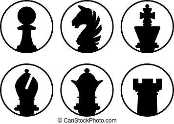 échecs, avatars, morceaux