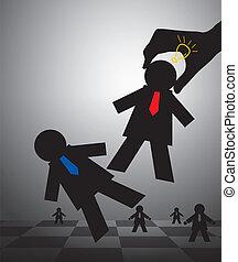 échecs, concepts affaires