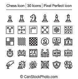 échecs, icône