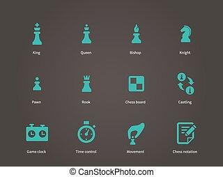 échecs, icons., morceaux