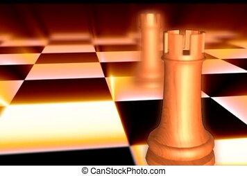 échecs, jeu, pion