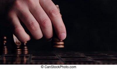 échecs, reine, en mouvement, figure