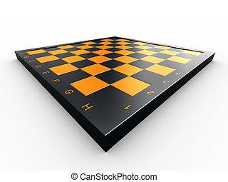 échecs, vide, planche