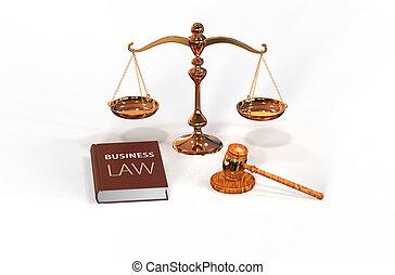 échelle, attributes:, légal, livre, droit & loi, marteau