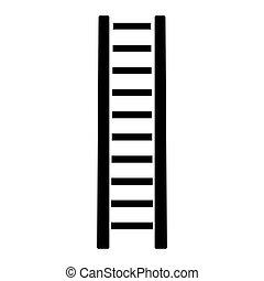 échelle bois, couleur, étape, noir, icône