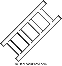 échelle, -, contour, icône
