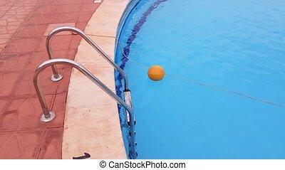 échelle, métal, piscine