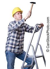 échelle, marteau, artisan