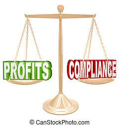 échelle, peser, conformité, mots, équilibre, profite