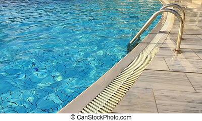 échelle, piscine