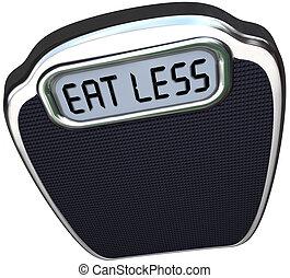 échelle, poids, moins, régime, mots, perdre, manger