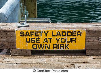 échelle, usage, propre, sécurité, risque