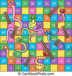 échelles, serpents