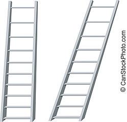 échelles, vecteur, illustration
