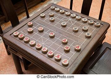 échiquier, échecs, chinois