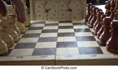 échiquier, morceaux échecs