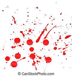 éclaboussé, rouges, aquarelle, fond