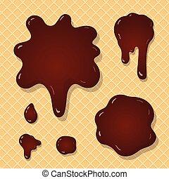éclaboussure, chocolat, fond