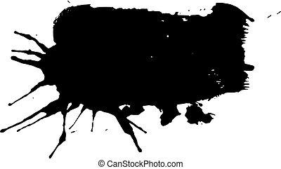 éclaboussure, encre noire