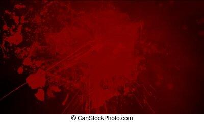 éclaboussure, fond, sanguine, rouges, encre