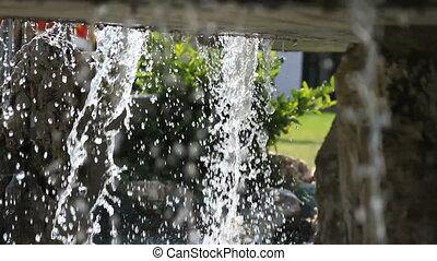éclaboussure, fontaine