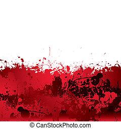 éclaboussure, sanguine, fond
