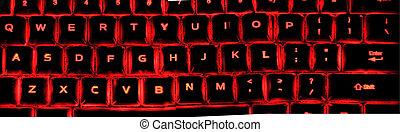 éclairé, clavier