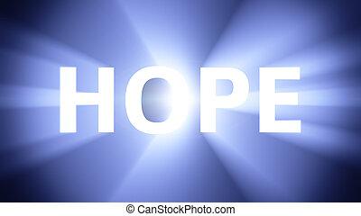 éclairé, espoir