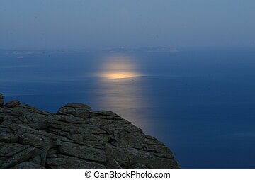éclairé par la lune