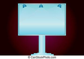 éclairé, site web, concept, annonce, business, jambe, couleur, média, vide, social, vecteur, une, lampe, extérieur, conception, signage, bannières, monté, promotion, vide, annonces