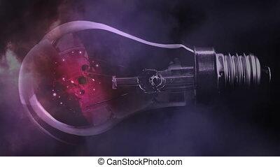 éclair, ampoule, lumière