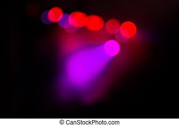 éclairage, concert, barbouillage