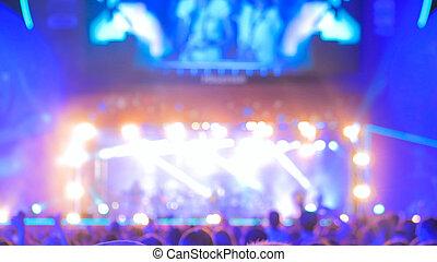 éclairage, defocused, concert