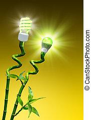 éclairage, efficacité, concept