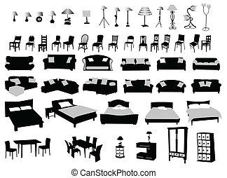 éclairage, meubles