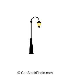 éclairage public, vendange, lampe, une