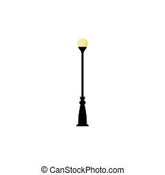 éclairage public, vendange, symbole