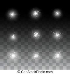 éclat, étoiles, lueur